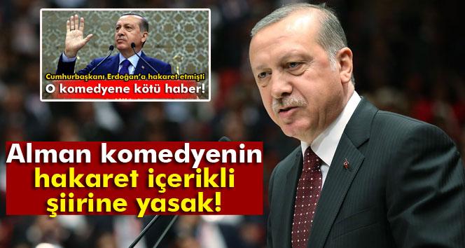 Almanya'dan Erdoğan'a hakaret eden şiirin belli bölümlerine yasak